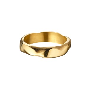 cloud textured gold ring