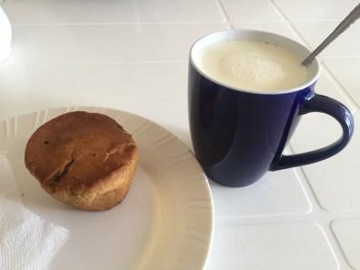Warm milk and muffin!
