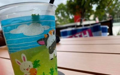 Grown Drinks in a Kiddie Cup