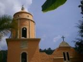 Réplica iglesia de Chachopo. Parque temático La Venezuela de Antier.