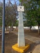 Reloj solar. Plaza Bolívar de San Francisco, Mcpio. Torres, Edo. Lara