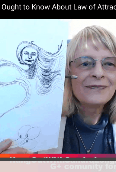 Spontaneous Artist Video by Sandra Longmore, Law of Attraction Trainer