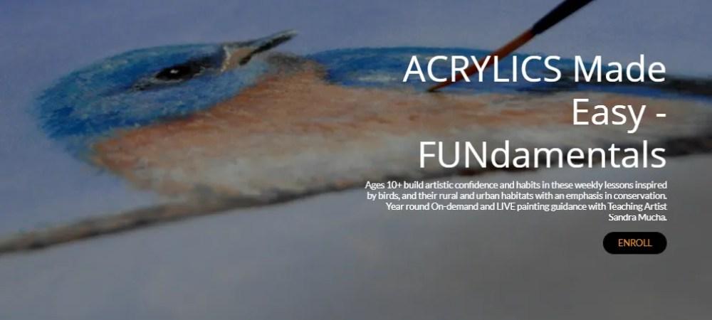 beginner acrylic art lessons