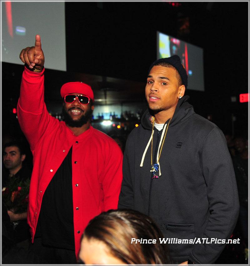PICS Keri Hilson Polow Da Don Chris Brown At Gold Room