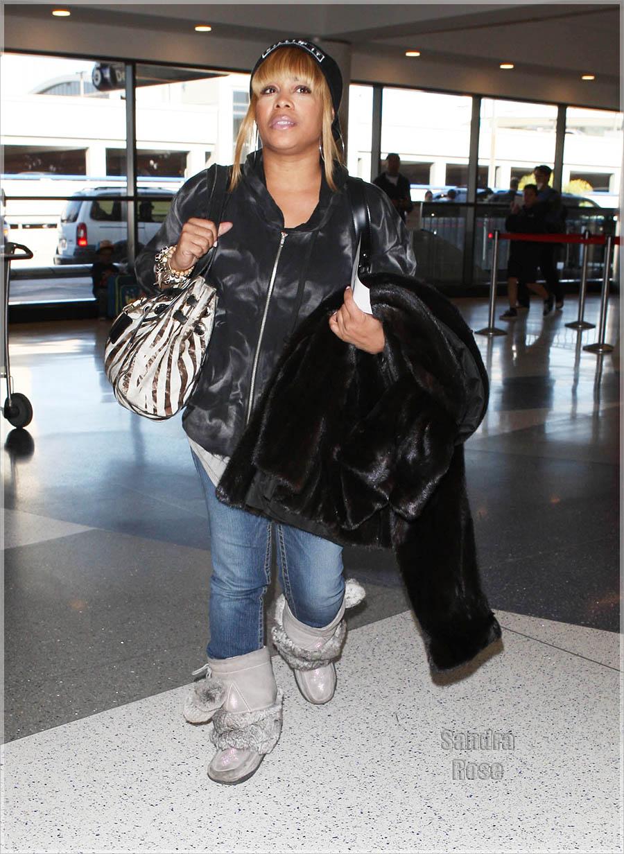 Tionne T Boz Watkins At LAX Sandra Rose