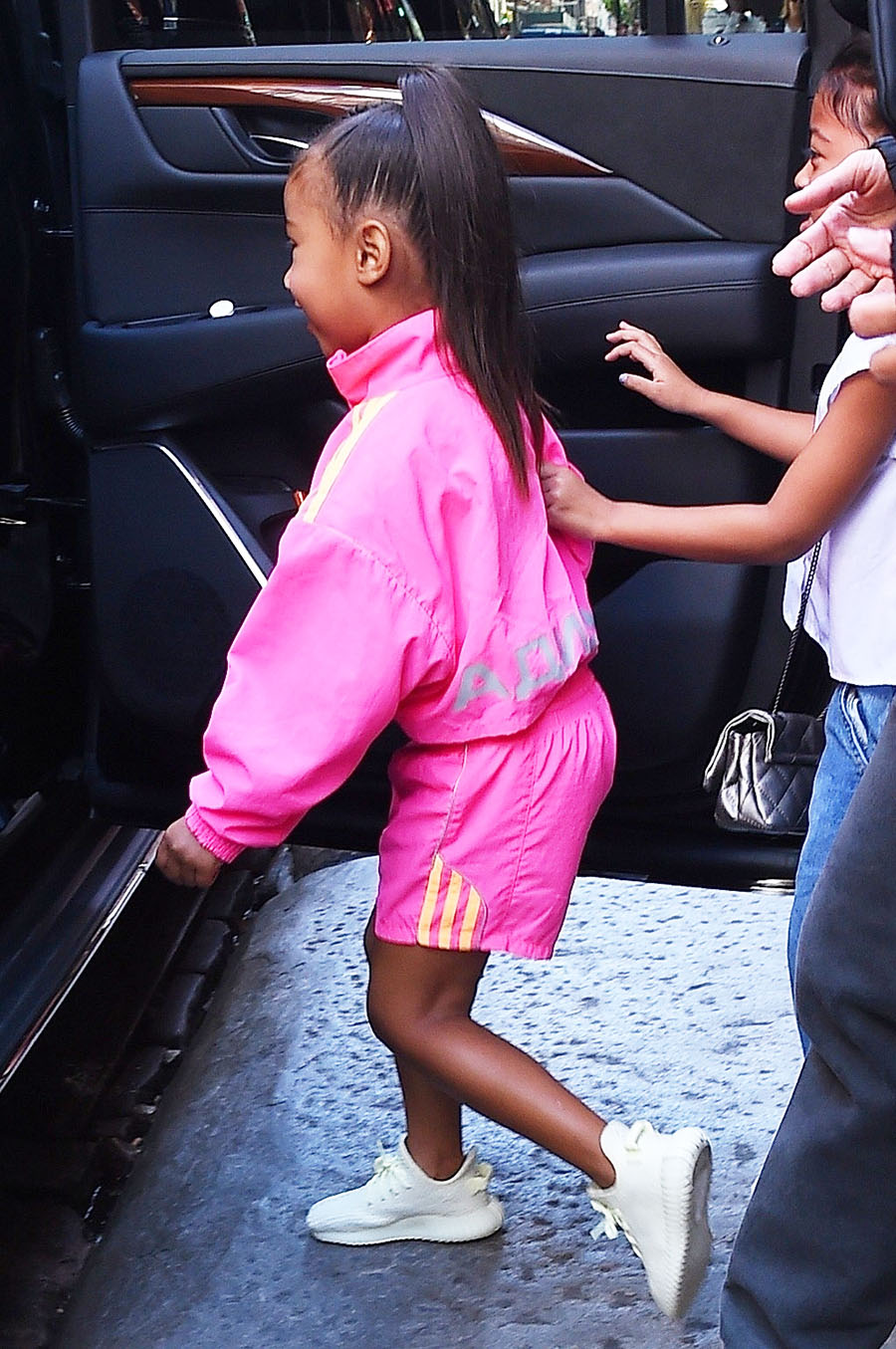 Kim Kardashian Took Daughter North West And Noris Little