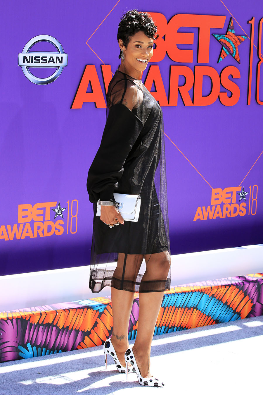 Tami Roman Attends The 2018 BET Awards At Microsoft