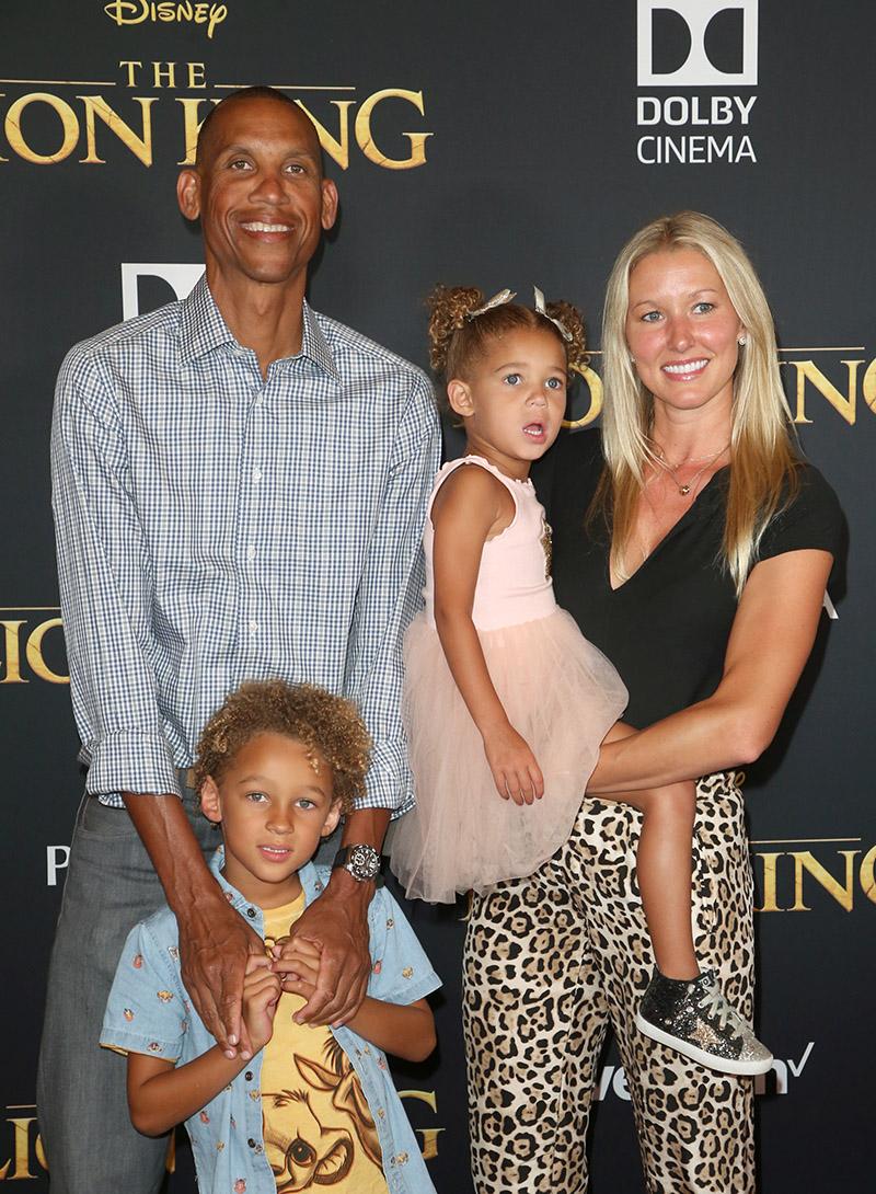 Reggie Miller Laura Laskowski And Family Attend The