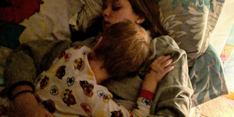 big sister with little brother