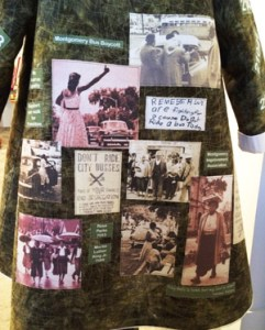 Patricia Montgomery, story quilt for Jo Ann Gibson Robinson concerning the Montgomery bus boycott that lasted for more than a year.