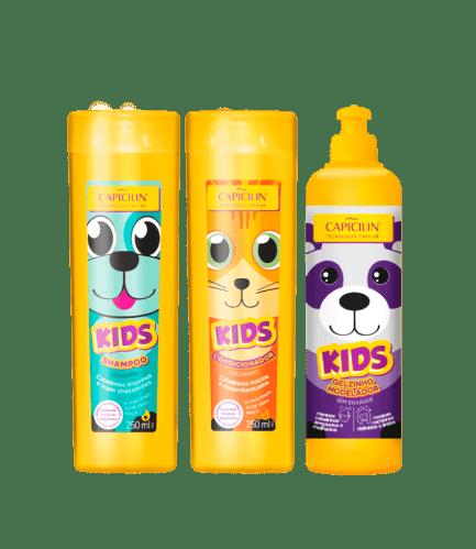 KIDS SHAMPOO + ACONDICIONADOR + GELZINHO MODELADOR