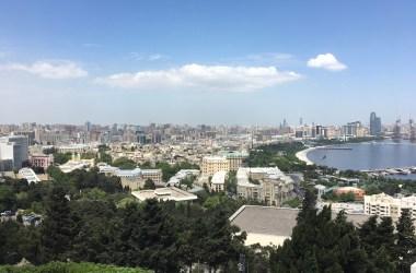 Uitzicht op Baku