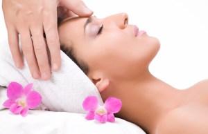 Lovely lady in massage salon