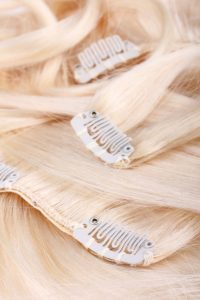 clips cheveux blonds extensions cheveux fins