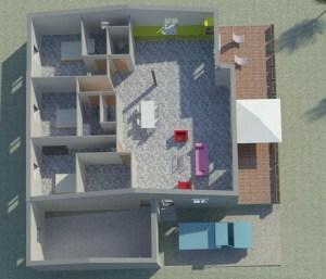 Permis de construire Vue 3D Intérieur