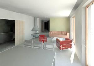 Conception villa Corse Séjour