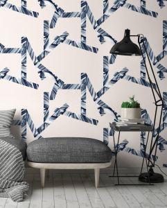 Papier peint intissé Stripes. Papermint