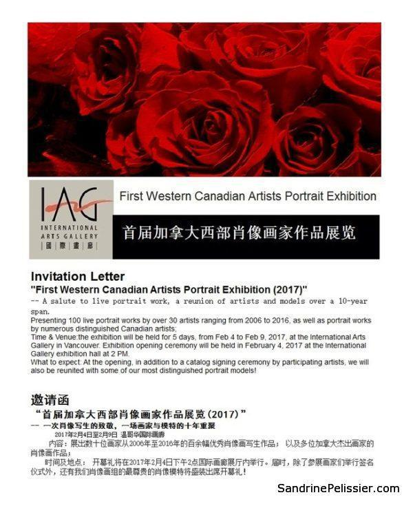 portrait exhibition at the International Arts gallery in Vancouver