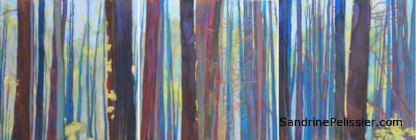 North Vancouver artist Sandrine Pelissier at the Vancouver art gallery art rentals and sales