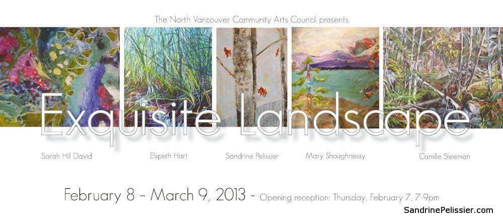 exquisite landscapes north Vancouver exhibition with sandrine pelissier
