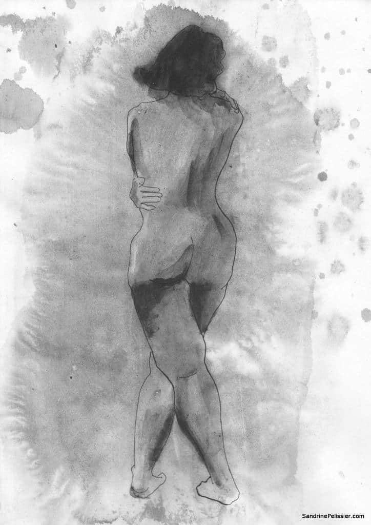messy ink life drawing