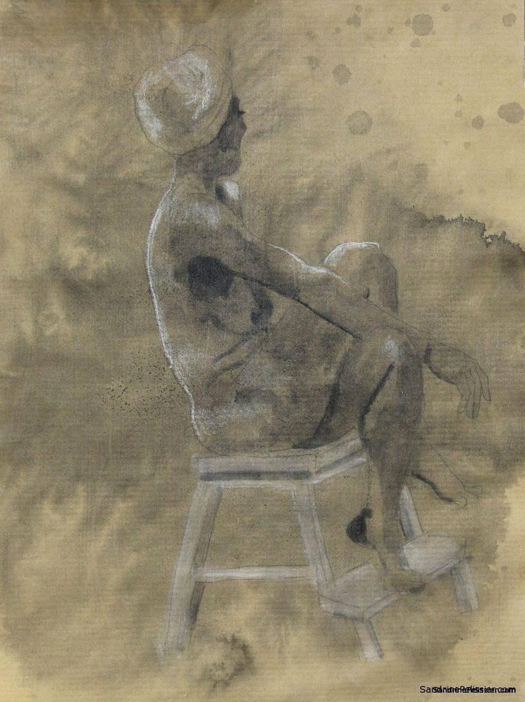 figure drawing by North Vancouver artist Sandrine Pelissier
