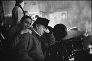 Giuseppe+Rotunno+with+Federico+Fellini+who+pretends+to+sleep+on+the+set+of+Fellini%27s+Satyricon,+Rome,+Italy+1969+mary+ellen+mark+