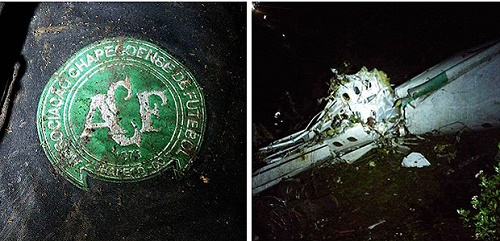 Imagens do acidente com o time da Chapecoense foram divulgadas nas redes sociais - Reprodução / Twitter (@TheACMario)