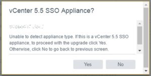 PSC Upgrade - Unable to detect appliance type