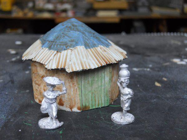 African mud hut single