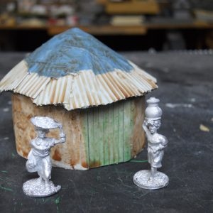 African mud hut single