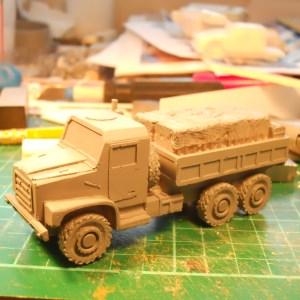 USMC MTVR 5 ton 6x6 truck (Artillery resupply vehicle)
