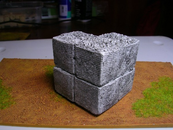 H5 Hesco doulble stacked corner wall