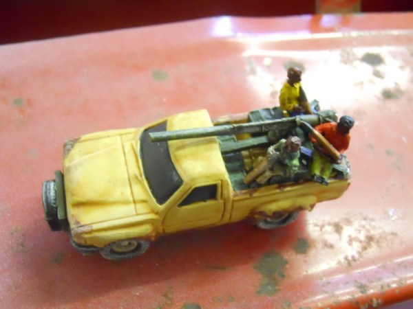 Toyota pick up & recoiless rifle