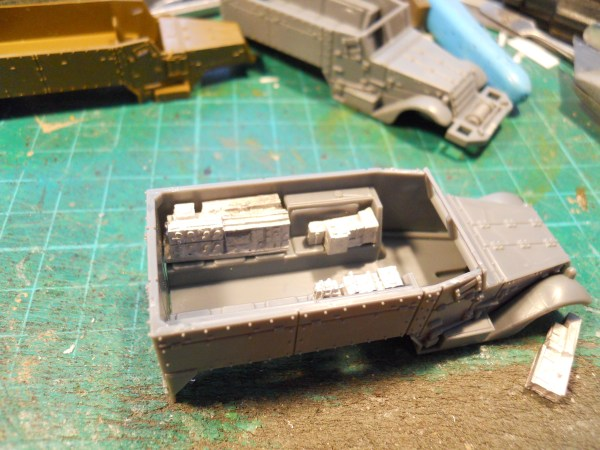 GB command half track interiors (x2)