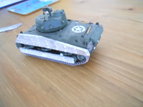 USMC M4A2 Sherman wooden side armour