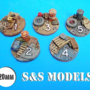 Bases, game markers and dice holder