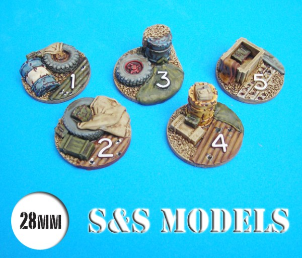 28mm ambush alley hot spot markers pack of 5