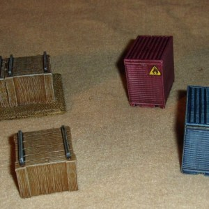 Assorted 28mm terrain items