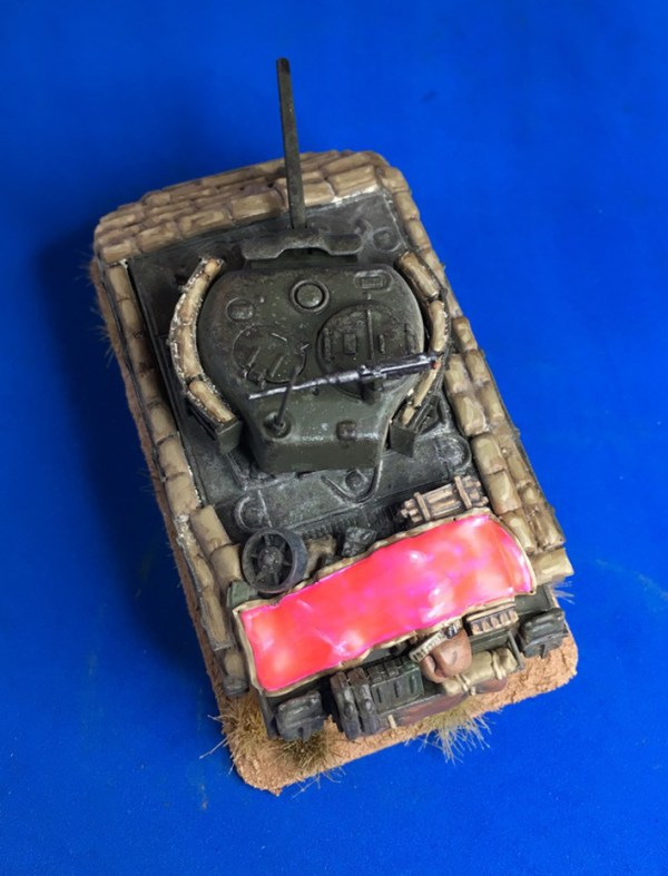 M4A3 Sherman sand bag armour