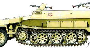 Armourfast 1/72 scale sdkfz 251 c half track kit