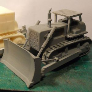 D8 style bulldozer (rops cab) & rear mounted winch