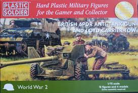 1/72 Plastic Soldier Co Lloyd carrier & 6 pdr a/t gun