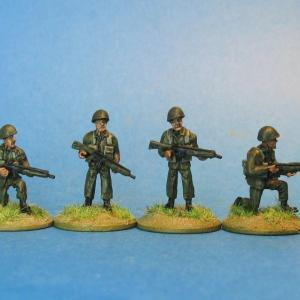 Cold war Swedish infantry