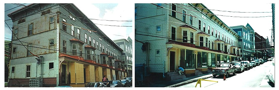 Apartments and Storefronts- before and after