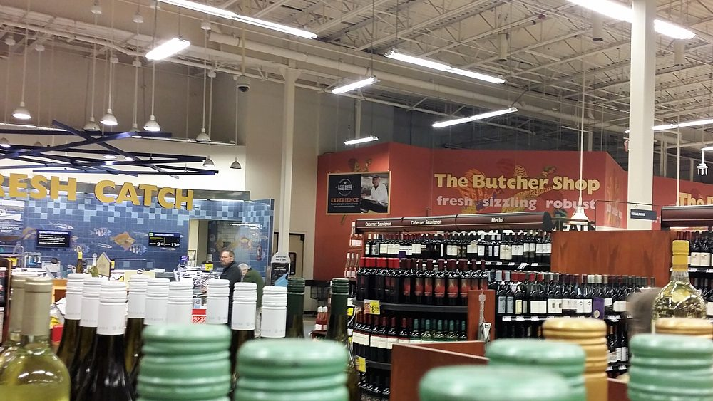 Fish and Meat Departments at Hannaford Grocery Store