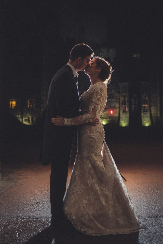 Evening wedding photography in Cheshire