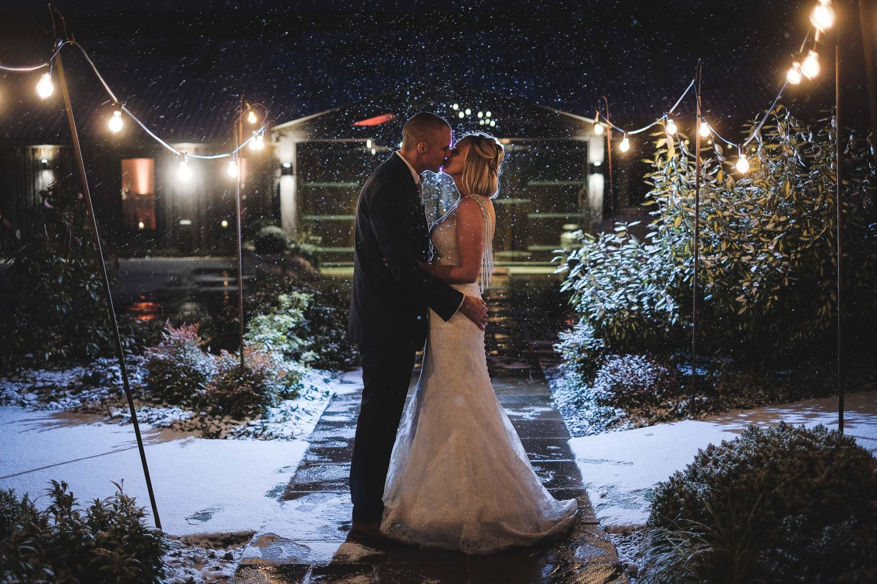 Winter photography at Owen House Wedding Barn