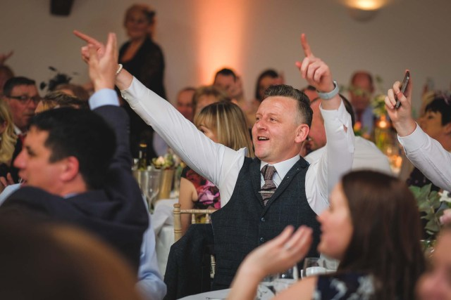Documentary wedding photography cheshire - wedding guests during speeches