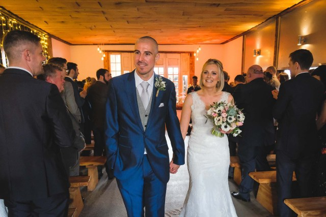 Natural wedding photography at Owen House Wedding Barn in Cheshire